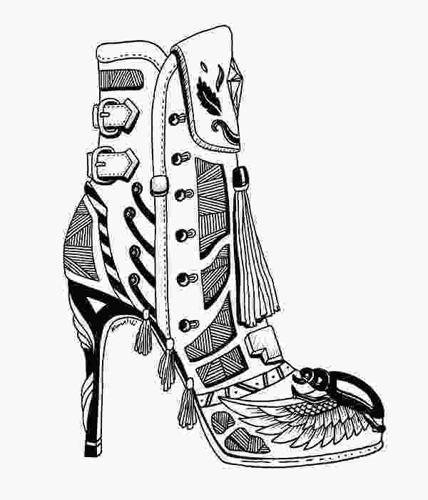 shoes drawing 361 best images about adult colouringshoesfeetshands