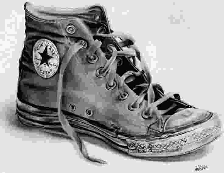 shoes drawing converse nothin like a good pair of warn out converse or