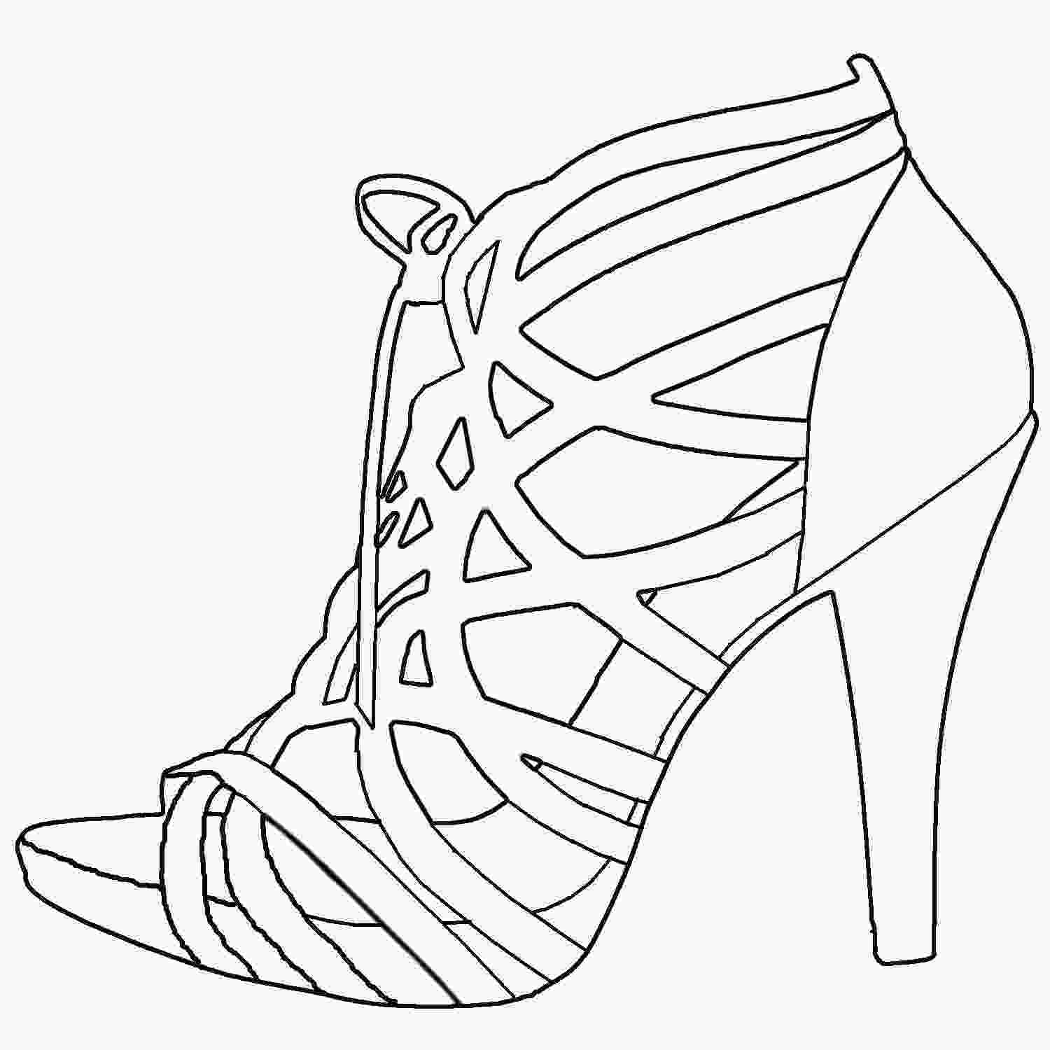 shoes drawing high heel drawing template at getdrawingscom free for