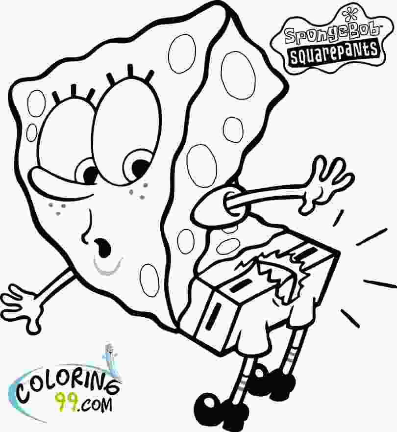 spongebob coloring spongebob squarepants coloring pages team colors
