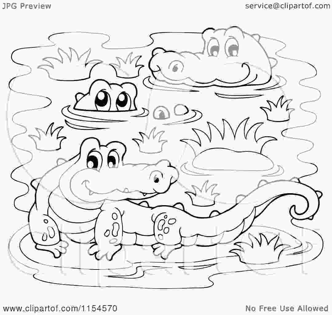 swamp coloring pages cartoon of a coloring page of crocodiles in a swamp