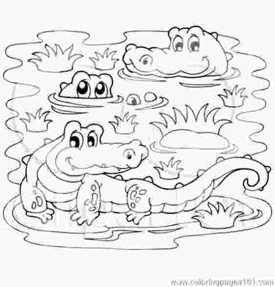 swamp coloring pages crocodiles in a swamp coloring page free printable