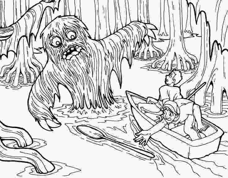 swamp coloring pages free swamp monster coloring page just for halloween