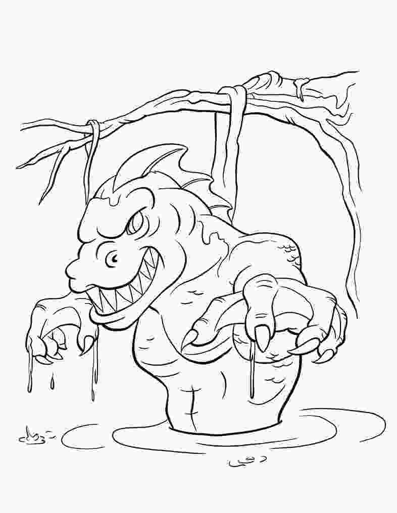 swamp coloring pages swamp monster free coloring pages