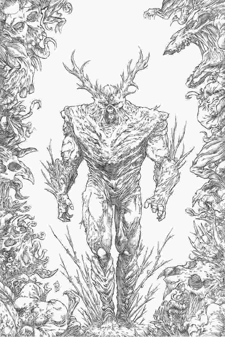 swamp coloring pages swampthing vs the rot by briansoriano on deviantart