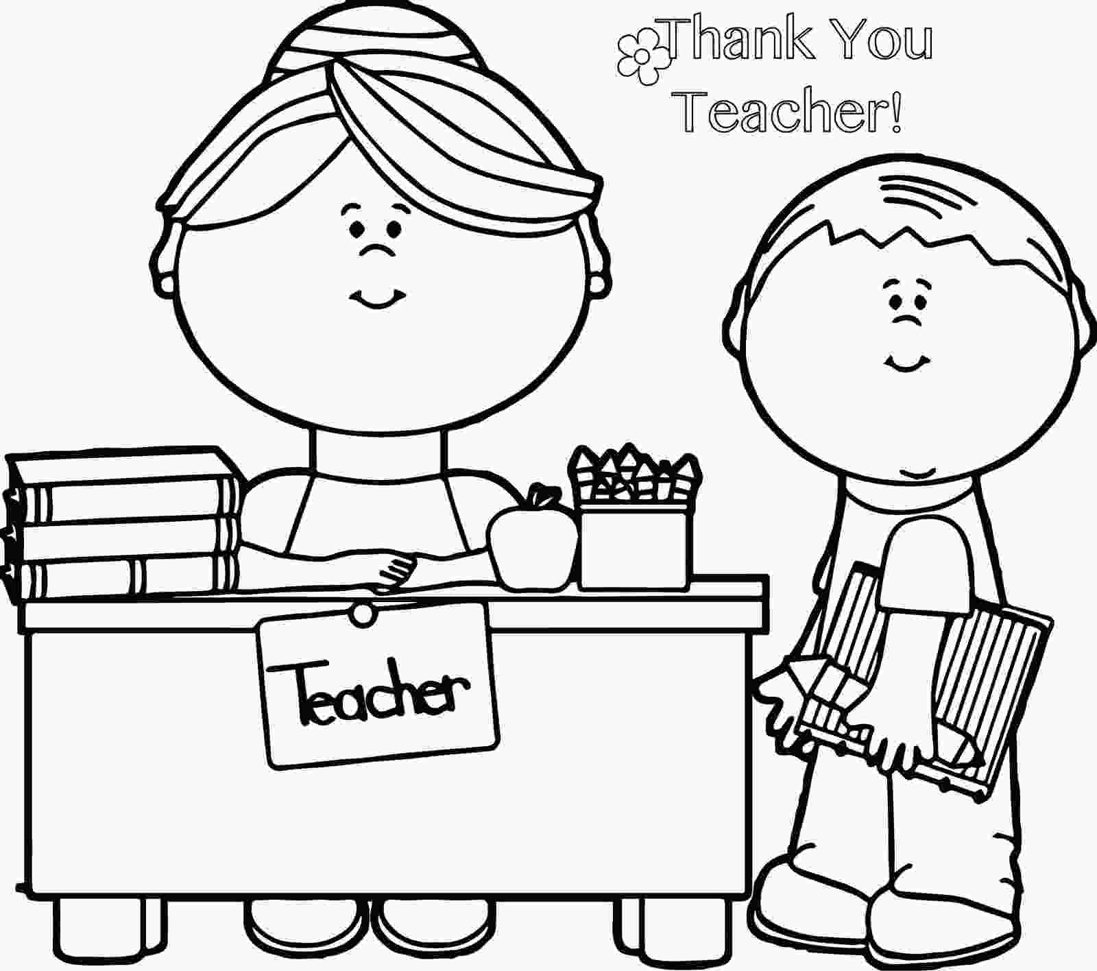 teacher coloring sheets thank you teacher coloring page for teacher gifts