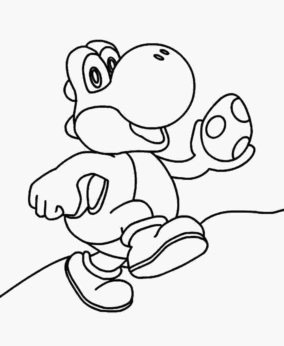 yoshi printable pictures cute mario coloring pages