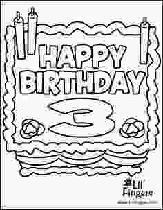 3rd birthday coloring pages birthday cake coloring page birthday cakes colors and