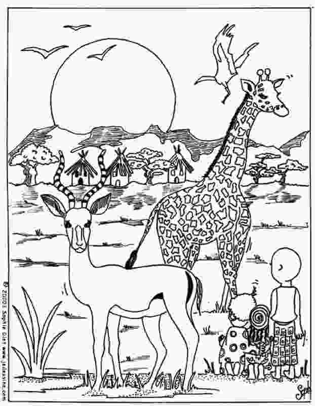 africa coloring page download african animals coloring pages 26514