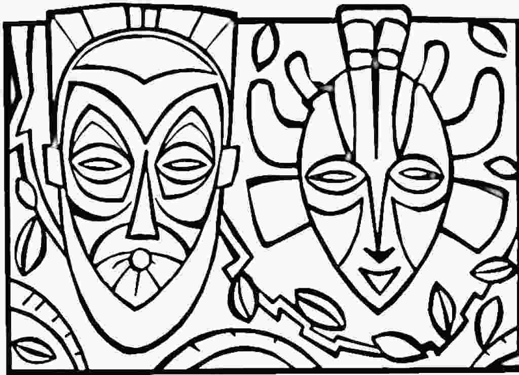 african coloring pages kwanzaa coloring sheets coloring pages african mask