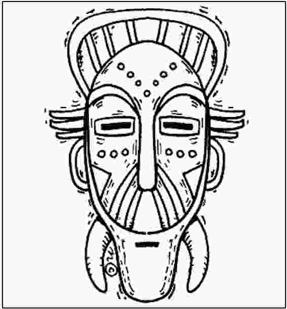 african mask coloring pages african mask coloring cake ideas and designs