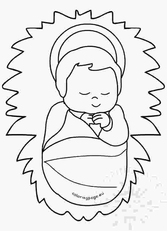 baby jesus printable baby jesus in a manger image printable coloring page