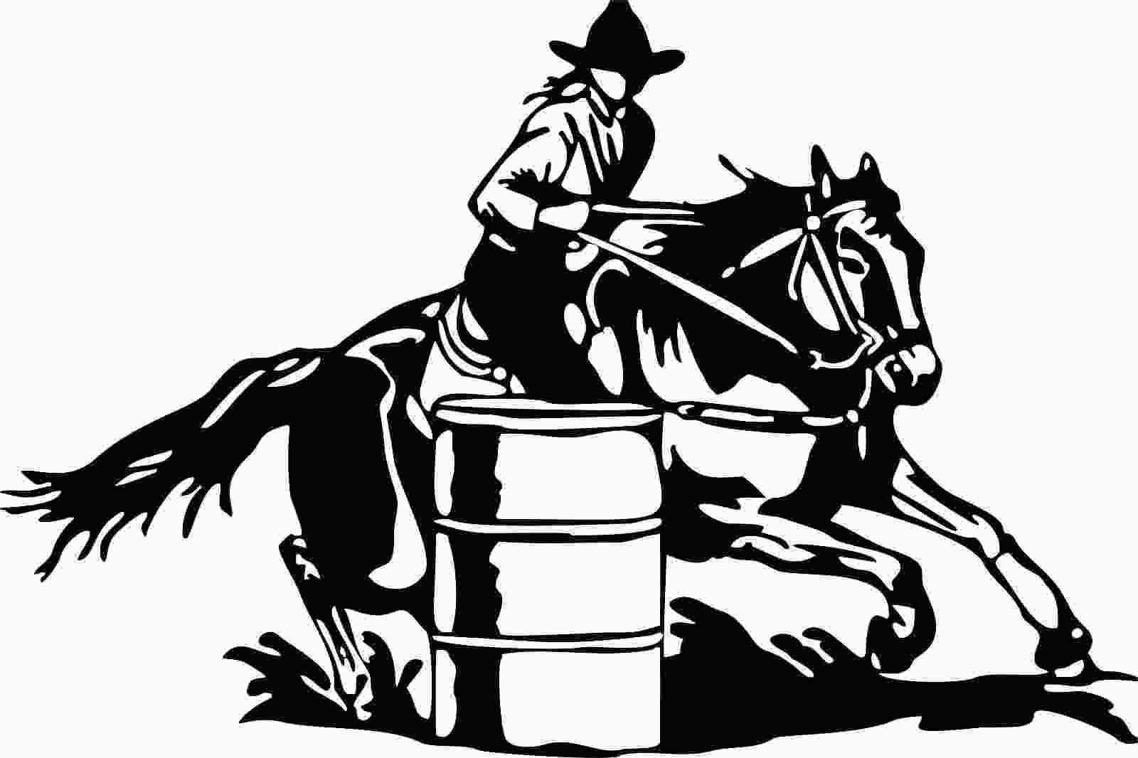 barrel racer outline compare prices on horse decals for trucks online shopping