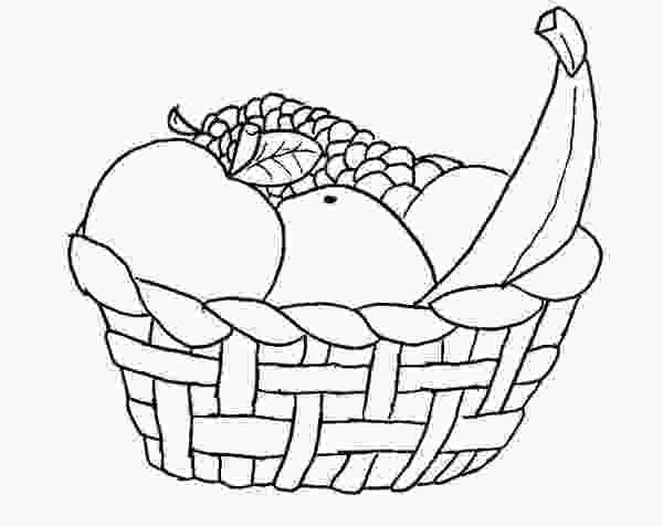 basket of vegetables coloring pages fruit basket coloring pages at getdrawingscom free for