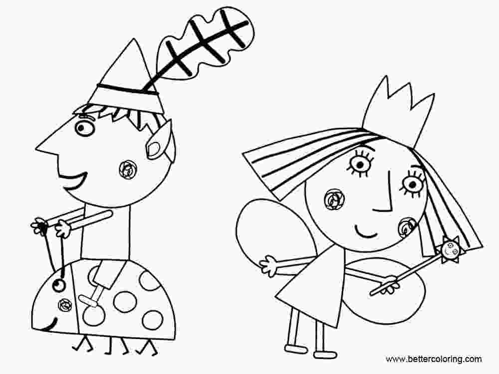 ben and holly coloring sheets ben and holly coloring pages clip art free printable