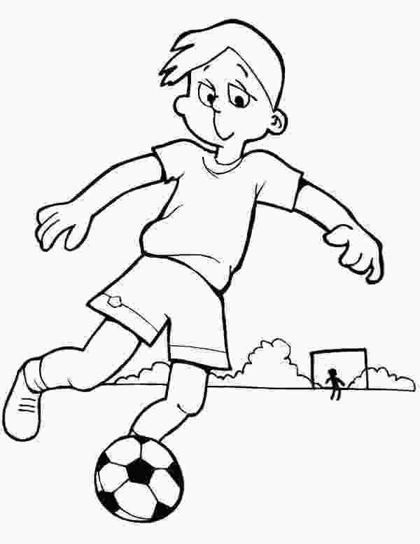 boy coloring page this boy is practising his soccer move coloring page