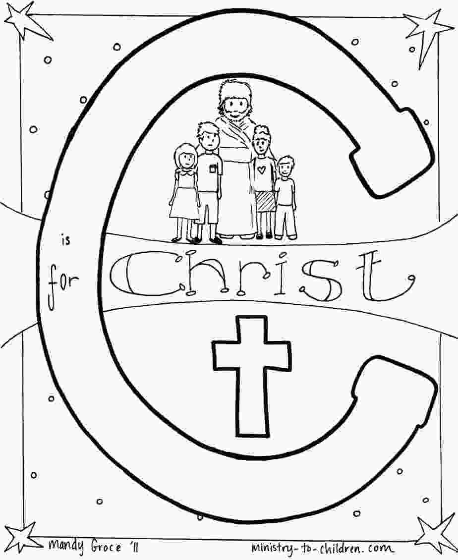 c for coloring c is for christ bible alphabet coloring page