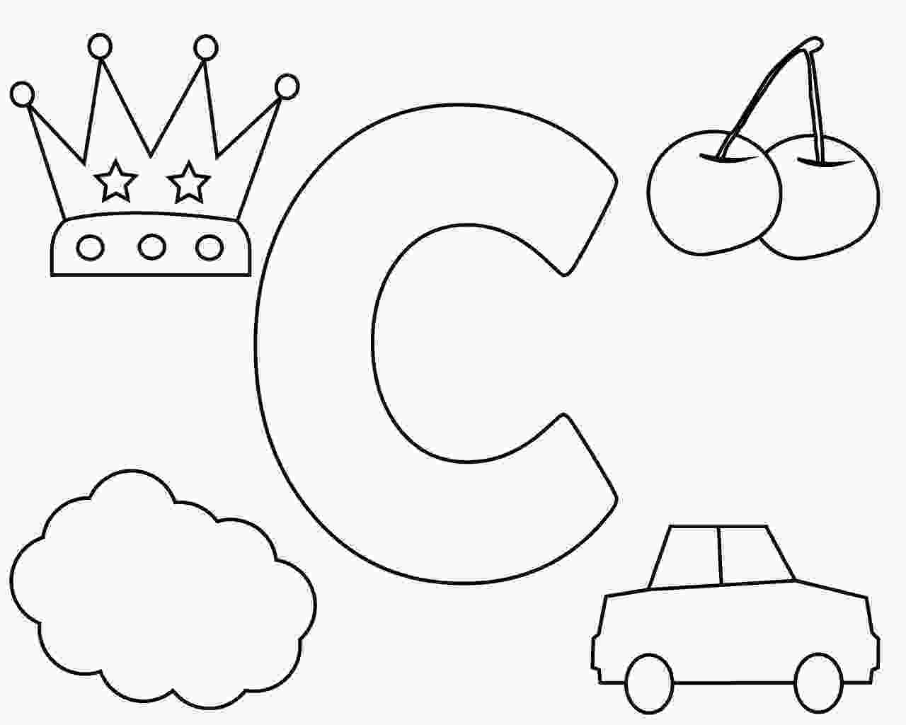 c for coloring letter c coloring pages for your little ones 1