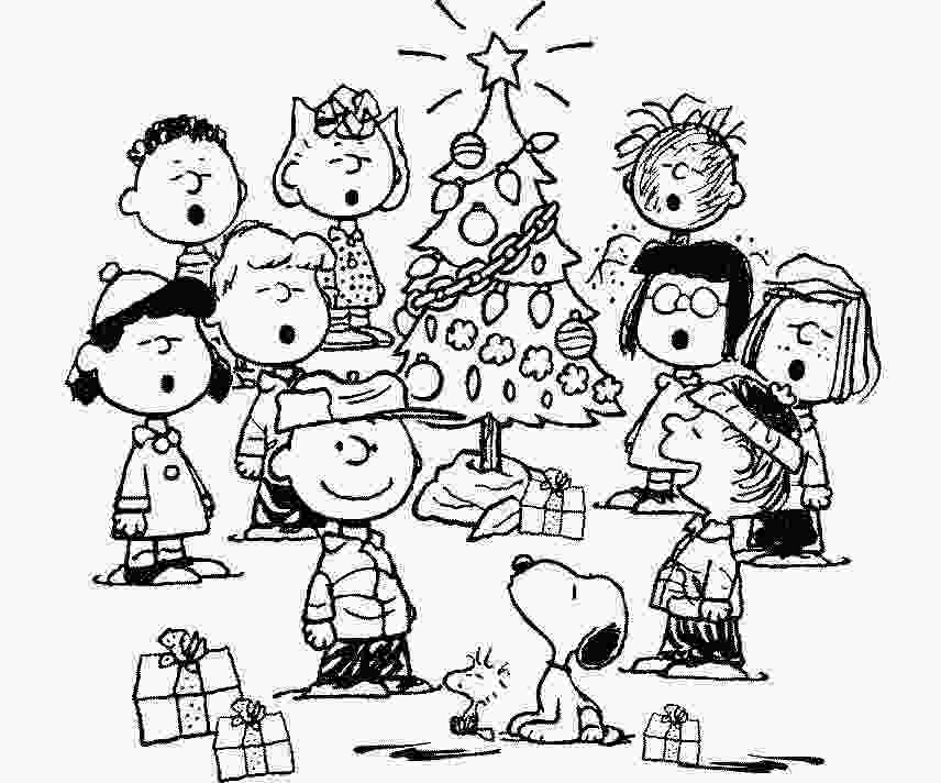 charlie brown coloring pages the holiday site christmas charlie brown and peanuts