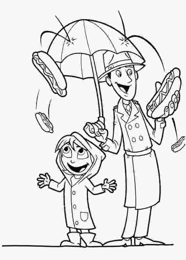cloudy with a chance of meatballs coloring pages cloudy with a chance of meatballs coloring page at