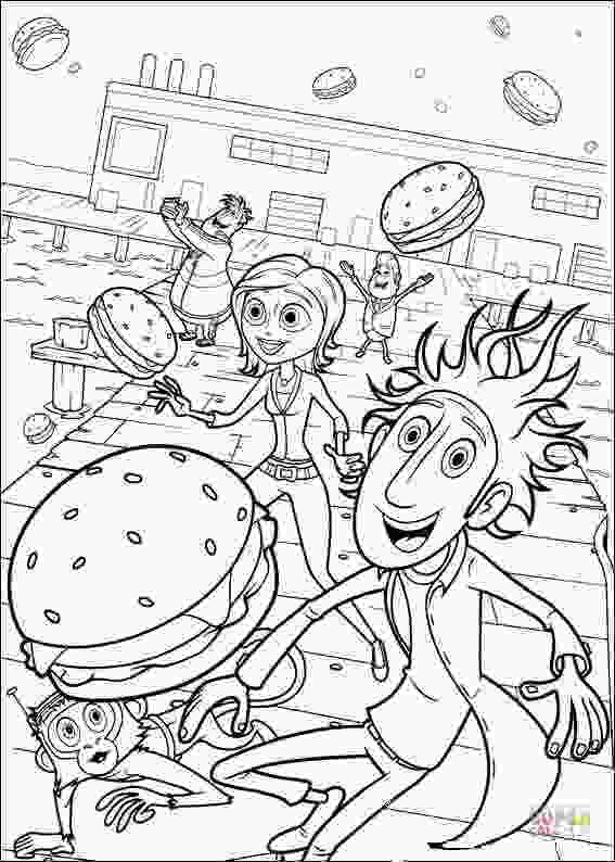 cloudy with a chance of meatballs coloring pages lots of hamburgers coloring page free printable