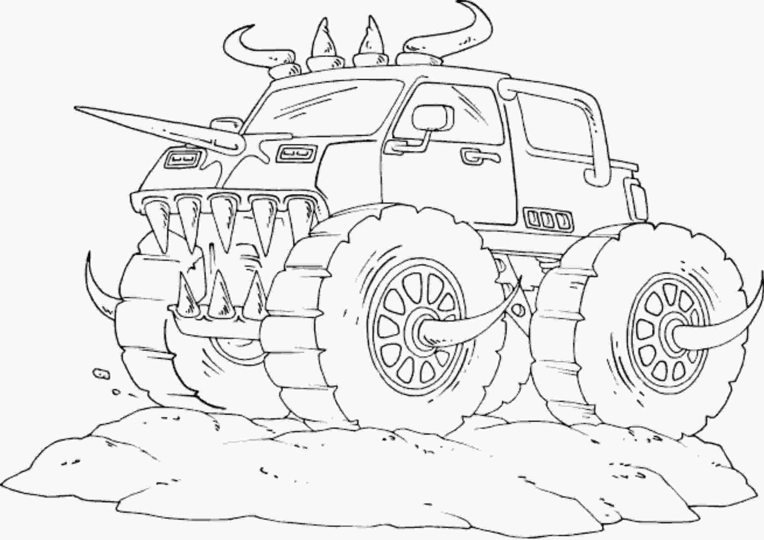 color monster trucks drawing monster truck coloring pages with kids