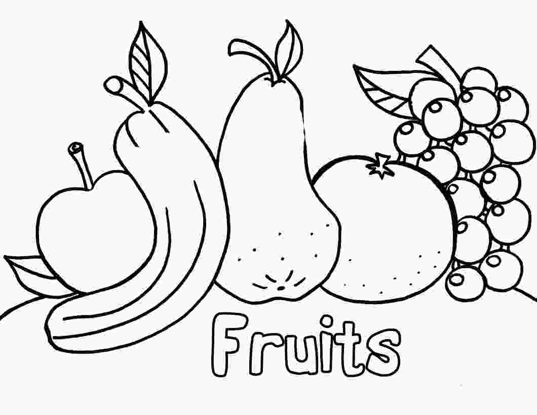 coloring fruits and vegetables worksheets fruit coloring pages for childrens printable for free