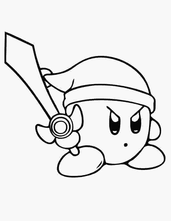 coloring page kirby free printable kirby coloring pages for kids