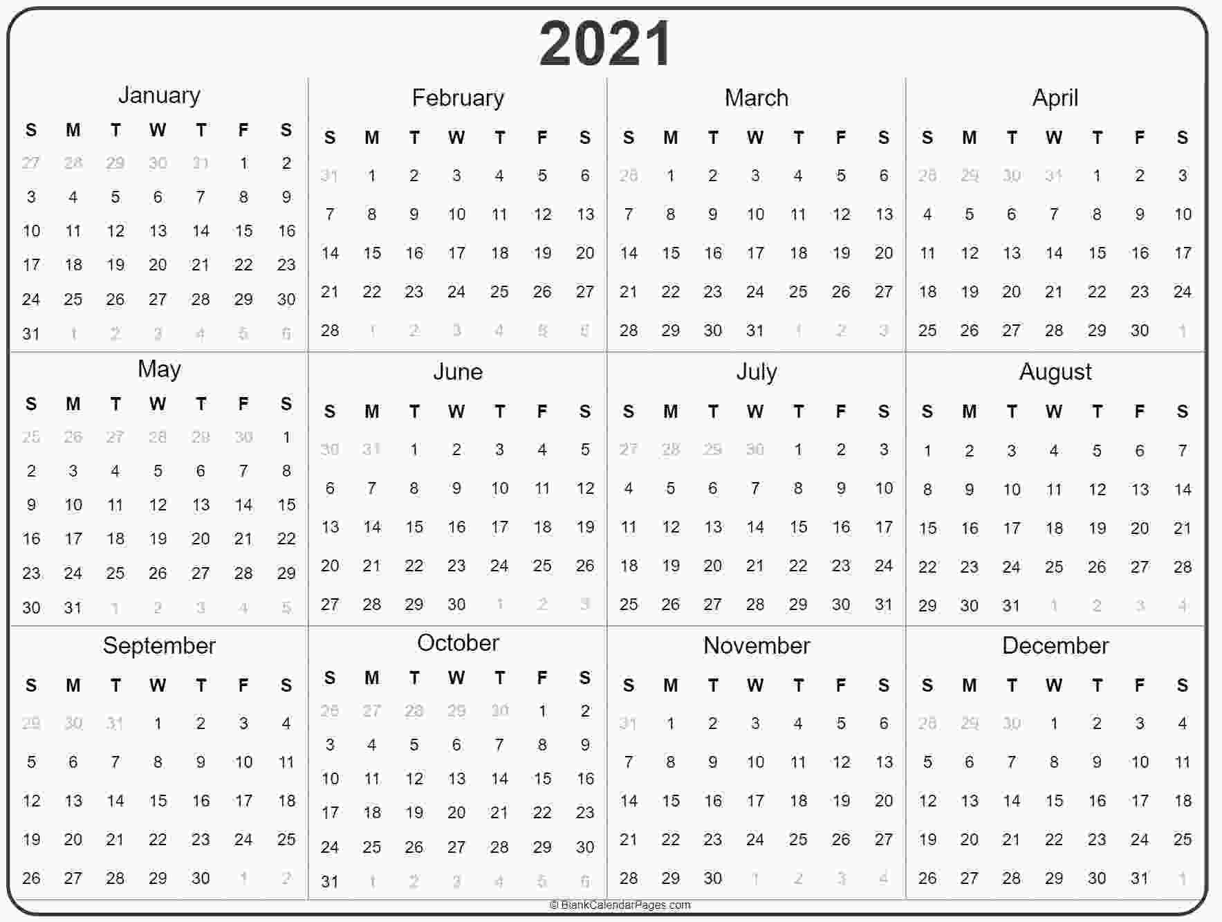 coloring pages 2021 2021 year calendar yearly printable