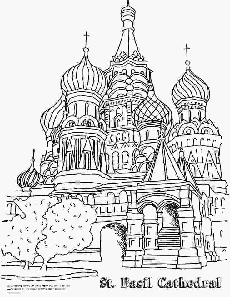 coloring pages 4th grade worksheets for st basils cathedral google search 4th