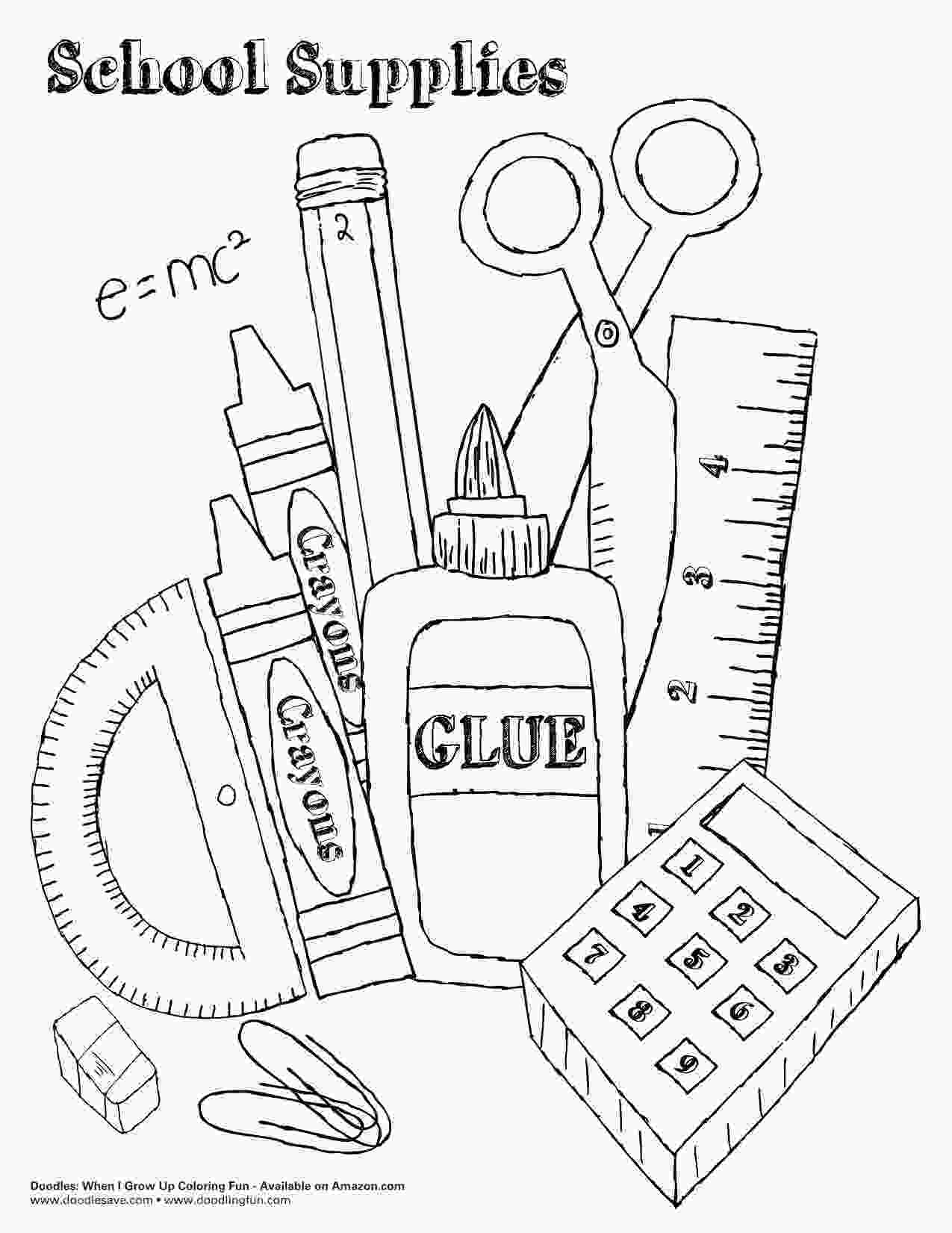 coloring pages of school supplies back to school coloring pages hľadať googlom