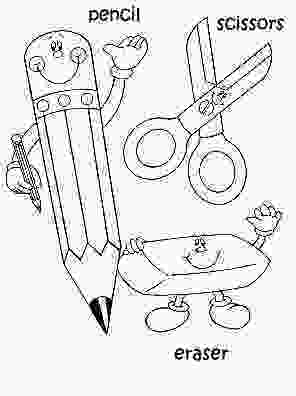 coloring pages of school supplies cards for kids sheets school coloring materials pencil