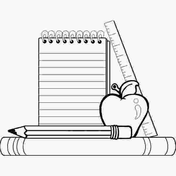 coloring pages of school supplies compele school supplies for going back to school coloring
