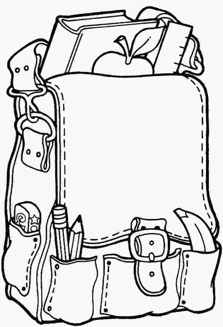 coloring pages of school supplies free printable coloring pageback to school backpack