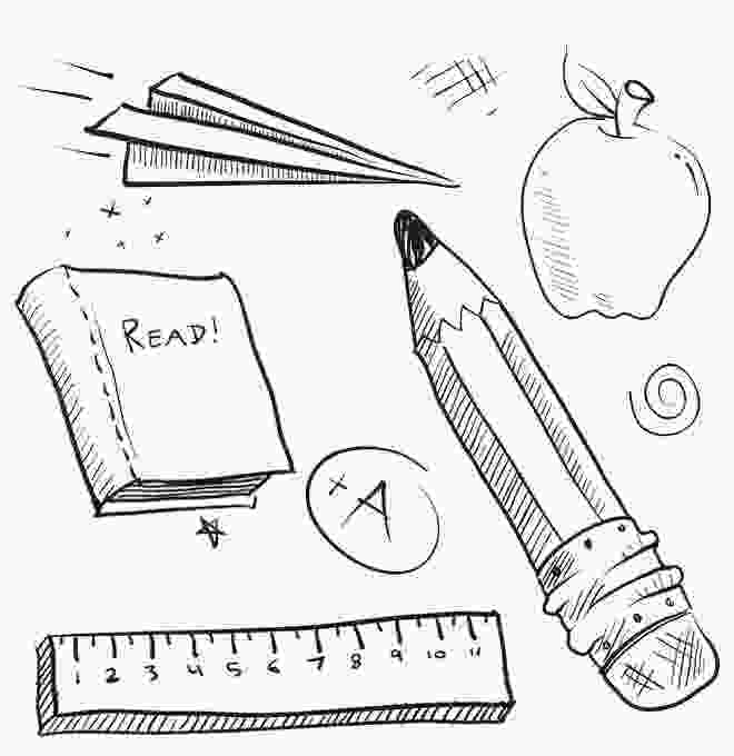 coloring pages of school supplies school supplies coloring pages book ruler and pencil