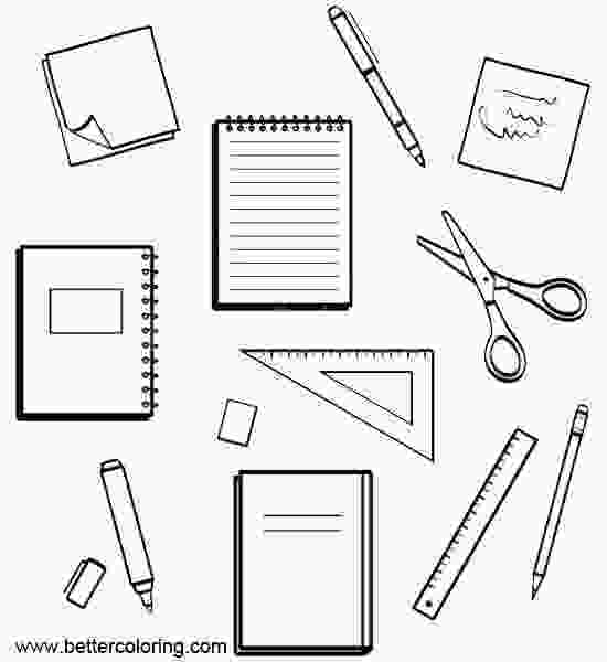 coloring pages of school supplies school supplies coloring pages clip art free printable