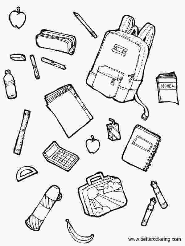 coloring pages of school supplies school supplies coloring pages with foods free printable
