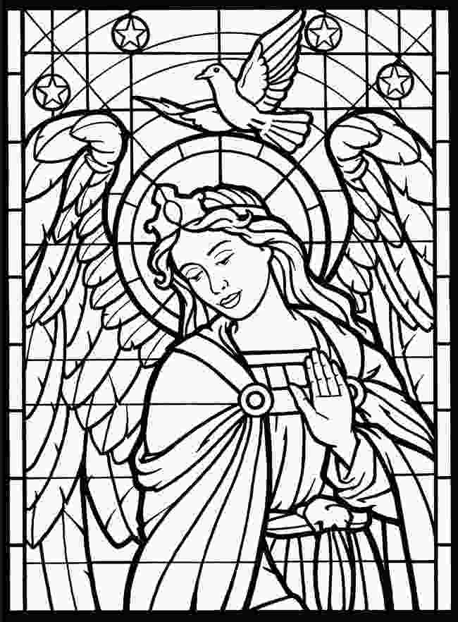 coloring picture glass free coloring pages of christmas stained glass 64