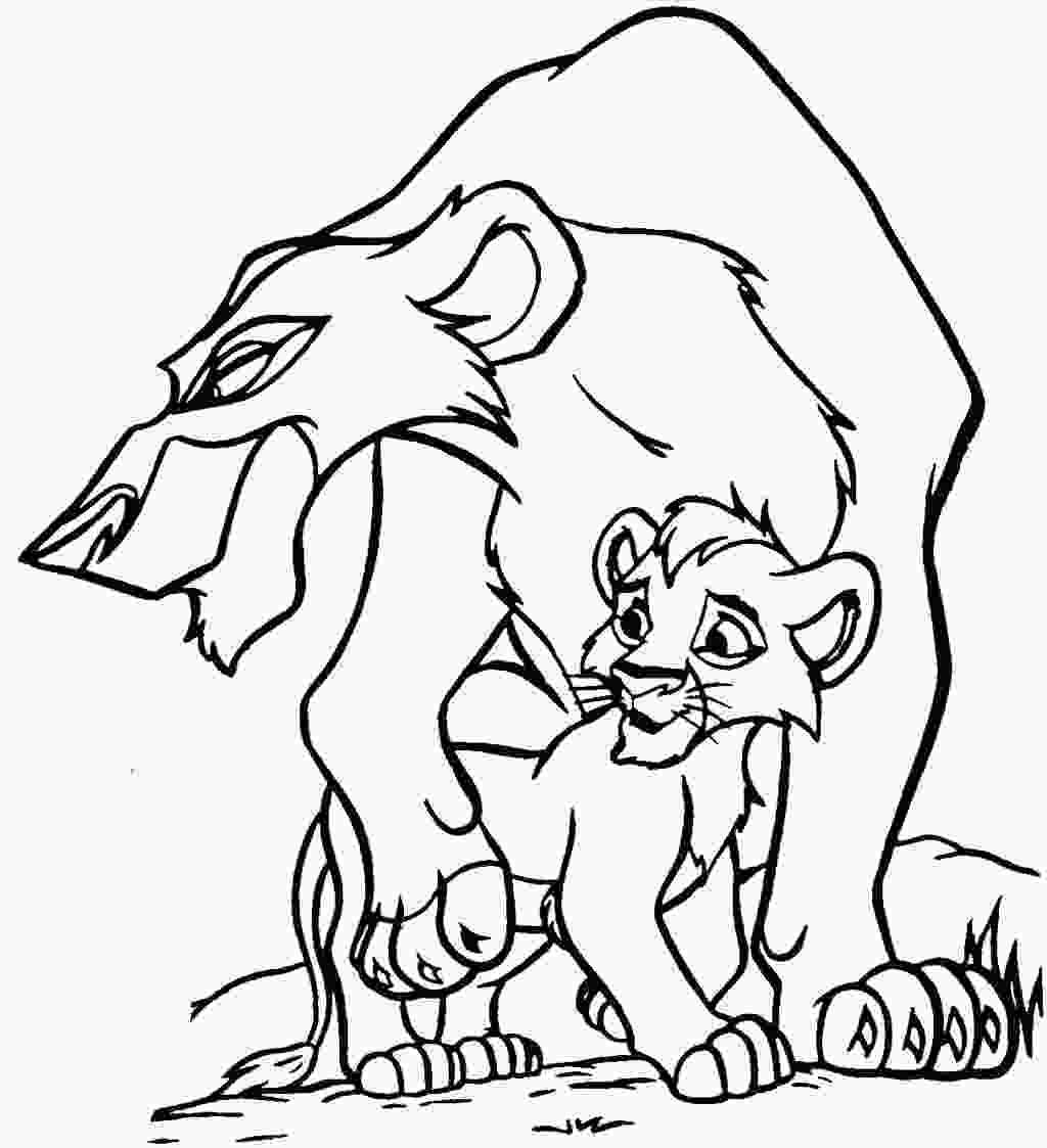 coloring picture lion king lion king tree drawing at getdrawingscom free for personal use lion king tree