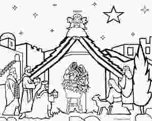 coloring scenes printable nativity scene coloring pages for kids cool2bkids