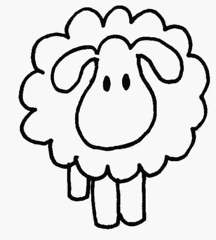 coloring sheep outline images free sheep outline download free clip art free clip art