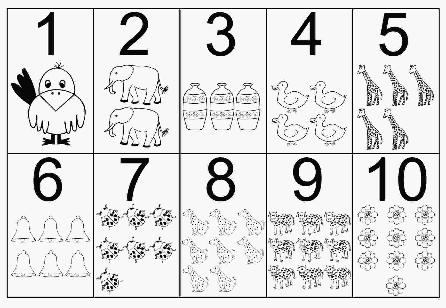 coloring sheets numbers free printable number coloring pages for kids