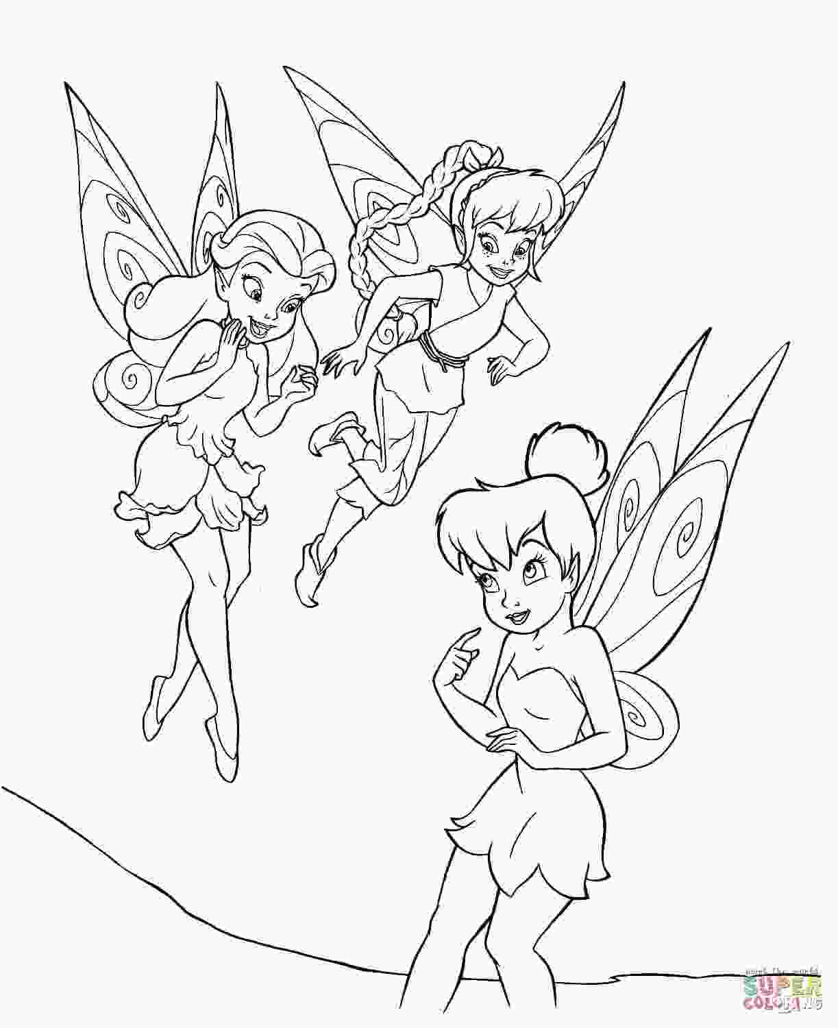 coloring tinkerbell tinkerbell with friends coloring page free printable coloring pages