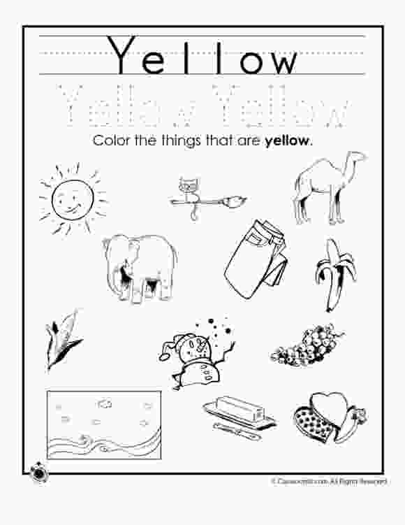 coloring yellow worksheet coloring pages color worksheet for preschool 101
