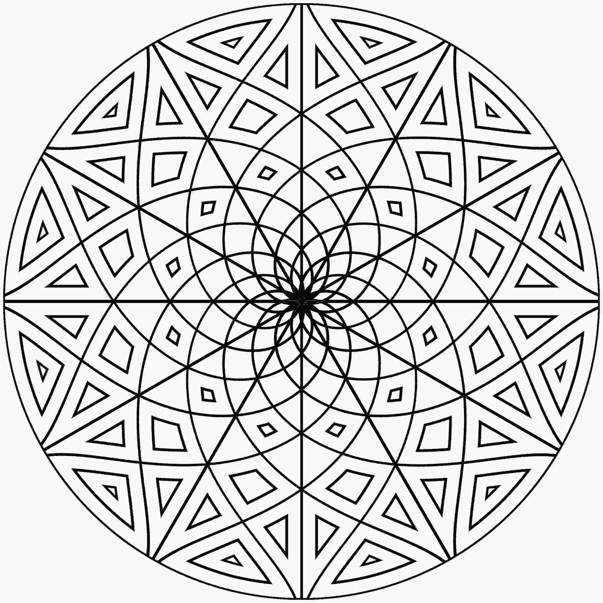 cool colouring patterns free printable geometric coloring pages for adults