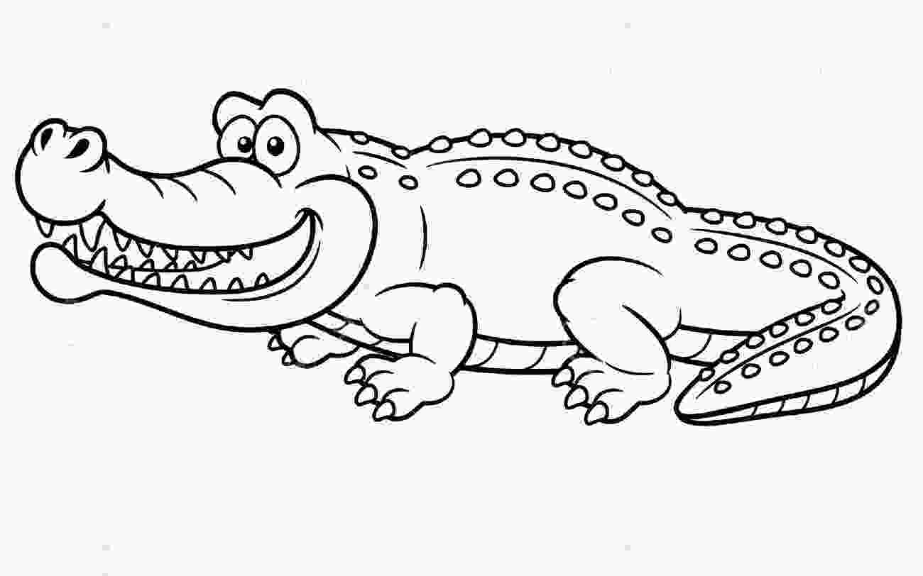 crocodile coloring crocodile coloring pages to download and print for free