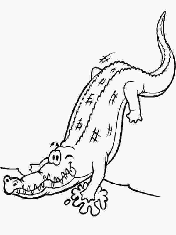crocodile coloring free printable crocodile coloring pages for kids 3