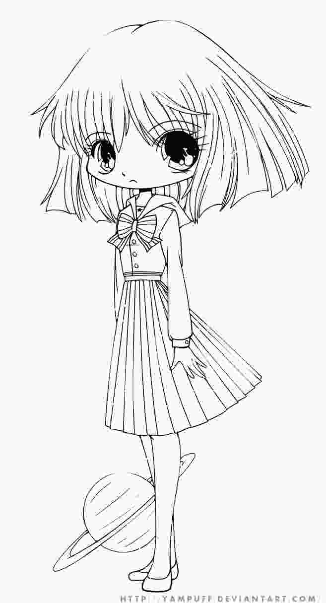 cute anime girls coloring pages hotaru chibi lineart by yampuff on deviantart
