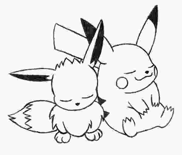 cute eevee coloring pages eevee and pikachu coloring pages at getcoloringscom