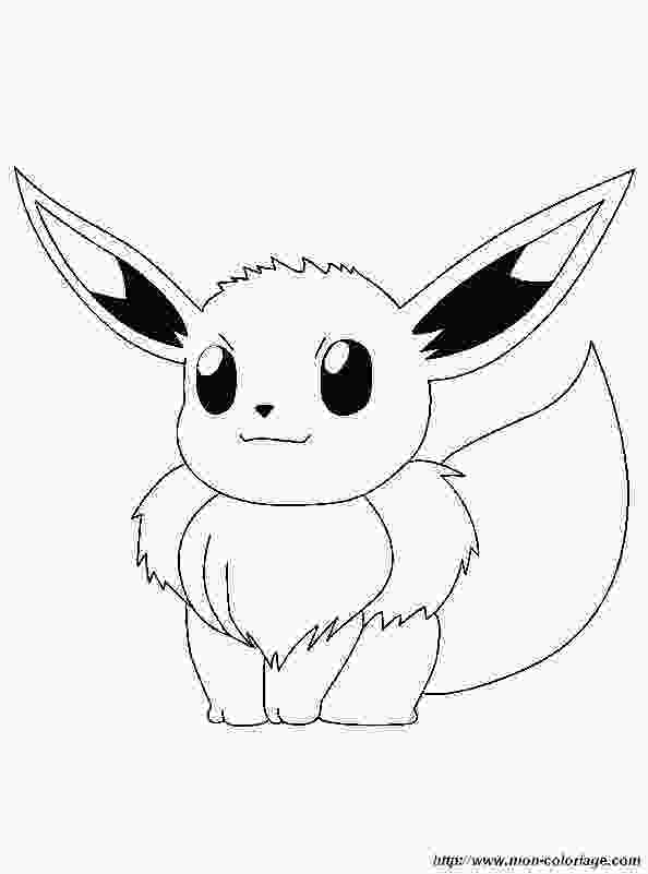 cute eevee coloring pages picture evoli stitching baby quilt blocks pokemon zum